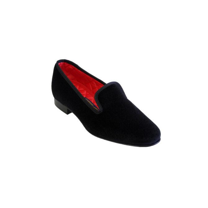 2c79e4e3a90 Black Albert Mens Velvet Slippers