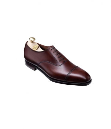 Crockett and Jones Belgrave Chesnut Leather Oxford
