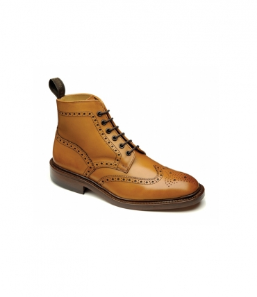 Loake Shoemakers Burford Tan Brogue Boot