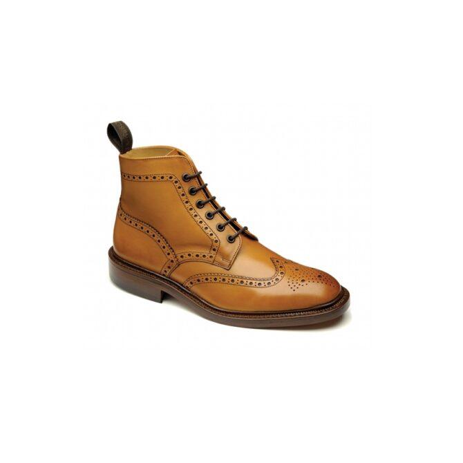 Loake Shoemakers Burford Tan Brogue Boot
