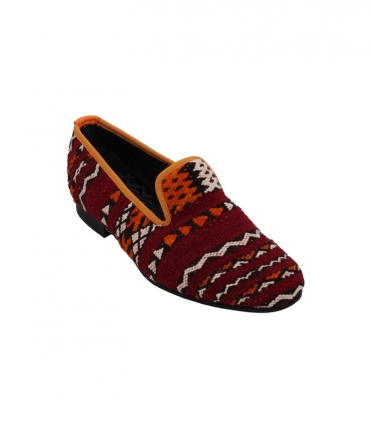 Mens Carpet Slippers Red Berber Bowhill and Elliot