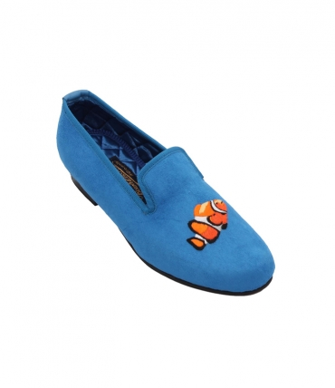 embroidered slippers clown fish