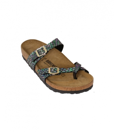 Birkenstock Shiny Snake Black Multicolor Sandals 1005045 2