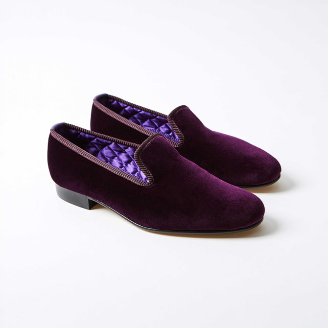 Regal Velvet Plain Albert Slippers