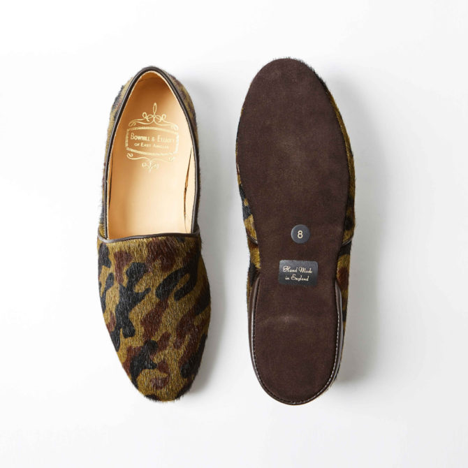 Camouflage Hair Cow Monk Slippers