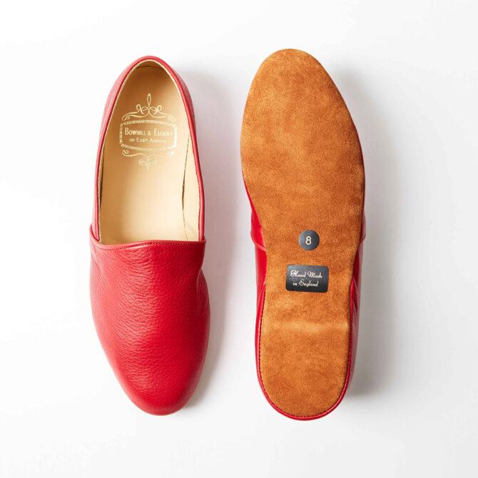 Red Deerskin Monk Slippers