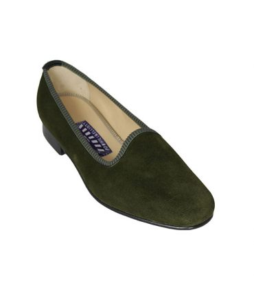 Olive Ladies Luxury Slippers