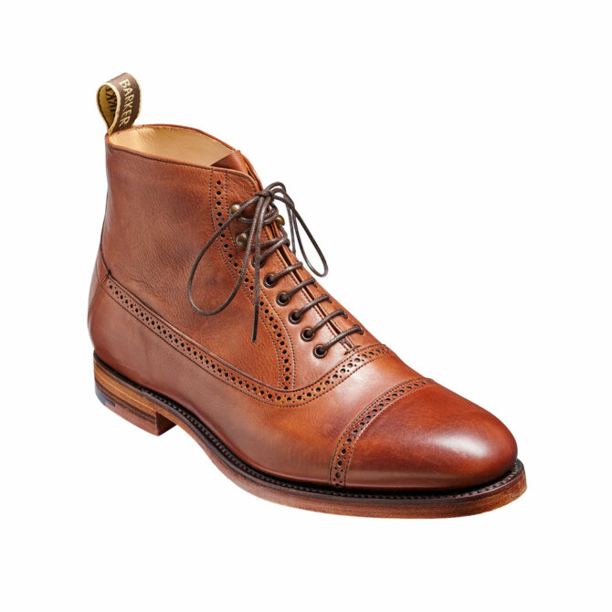 Barker Foley Brown Soft Grain Boot