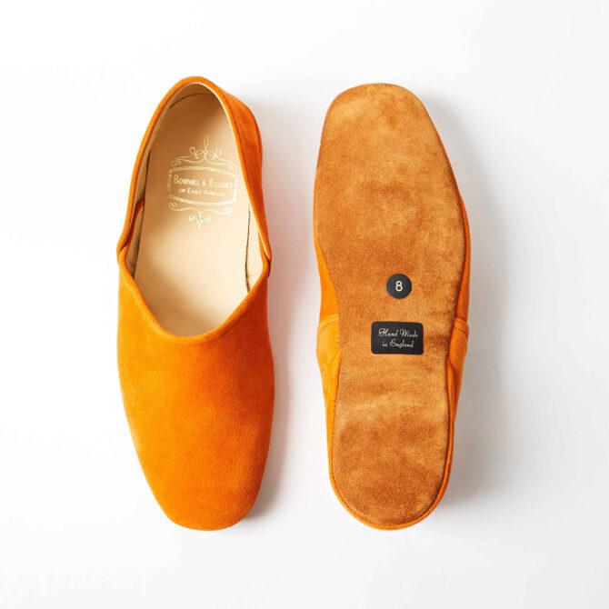 Orange Suede Grecian Slippers