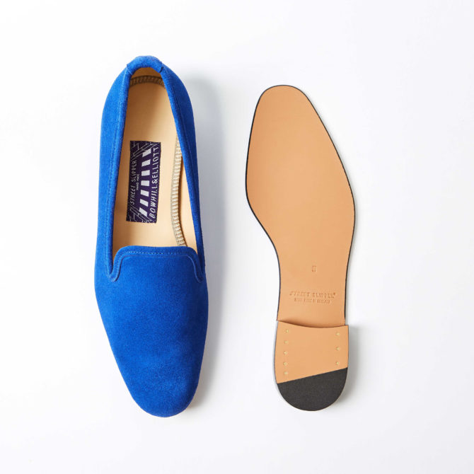 Royal Blue Suede Albert Slippers