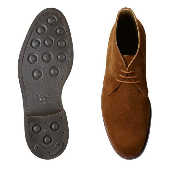 Crockett & Jones Chiltern Boots - Snuff Suede Chukka