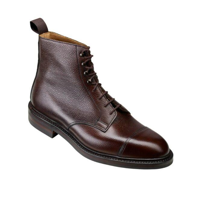 Crockett & Jones Coniston Dark Brown Scotch Grain Boot