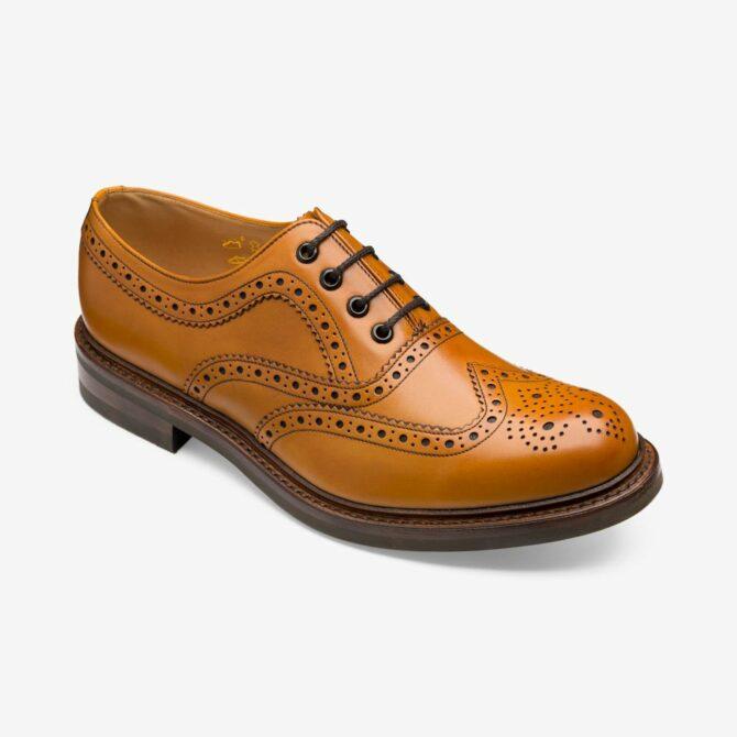 Loake Edward Tan Brogue Derby Shoe