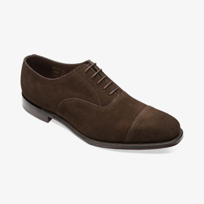 Loake 1880 Aldwych Chocolate Brown Suede Toecap