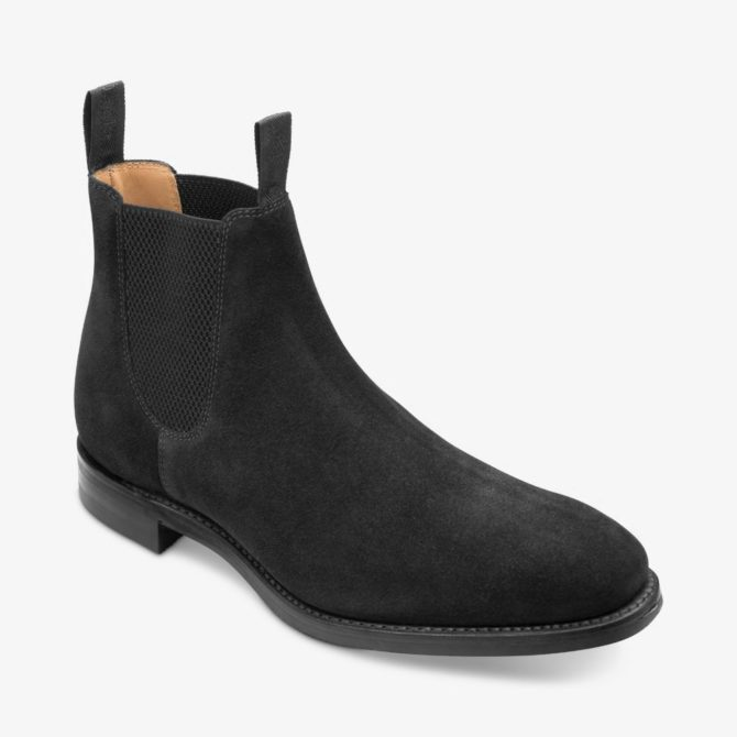 Loake 1880 Chatsworth Black Suede Boot