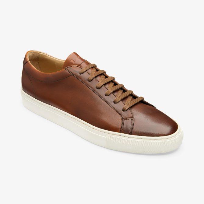 Loake Sprint Hand Painted Chestnut Calf Sneaker