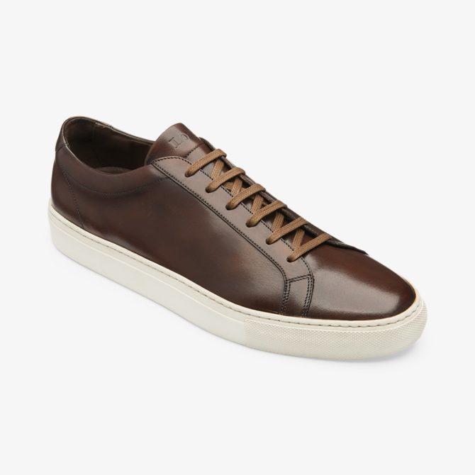 Loake Sprint Hand Painted Dark Brown Calf Sneaker