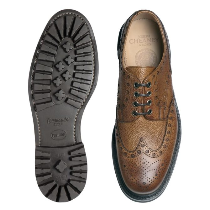 Cheaney Avon Almond Grain Derby Brogue Shoe