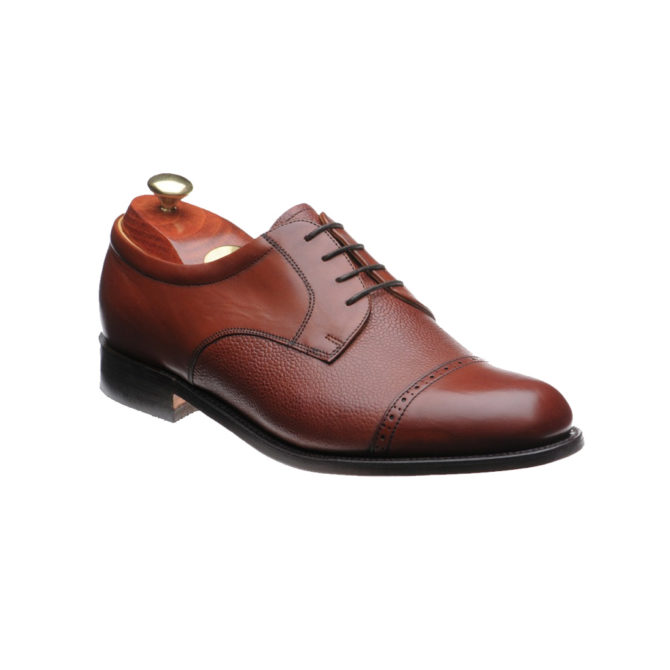Barker Staines Rosewood Deerskin / Calf Leather Derby
