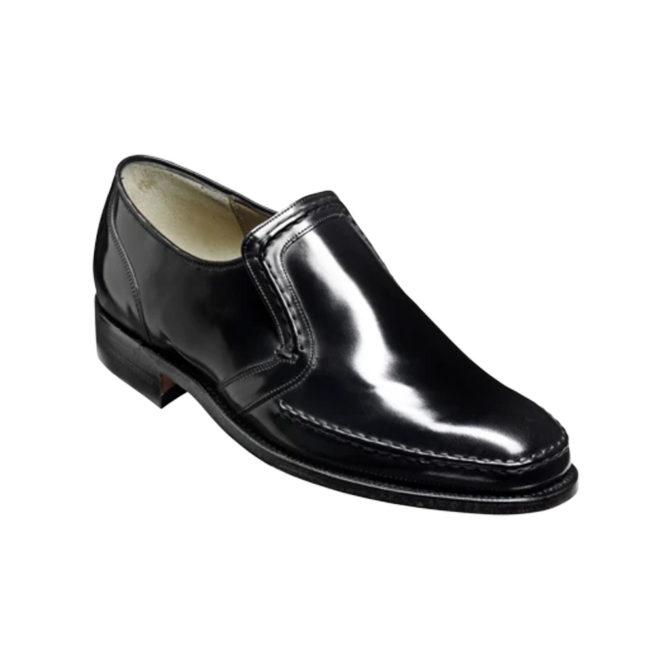 Barker Hadley Black High Shine Calf Loafer