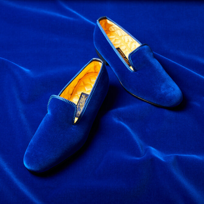 A Royal Blue Addition to our Velvet Slippers