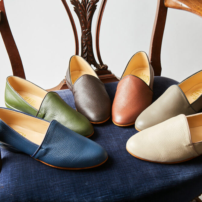 Monk Deerskin Leather Slippers in 6 New Colours
