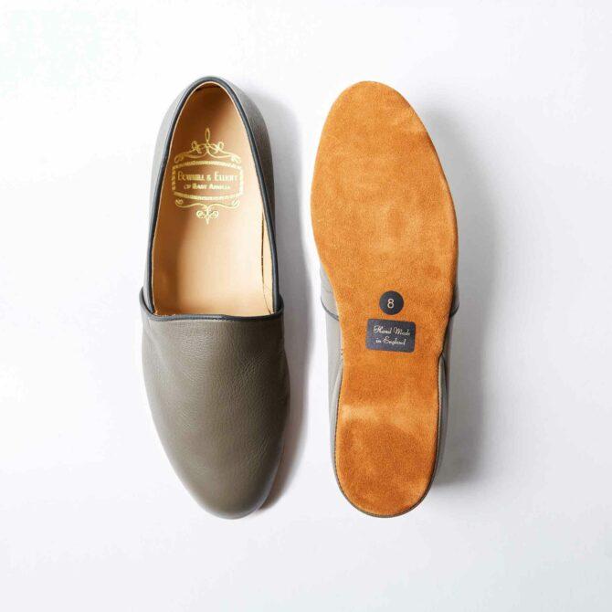 Stone Deerskin Monk Slippers